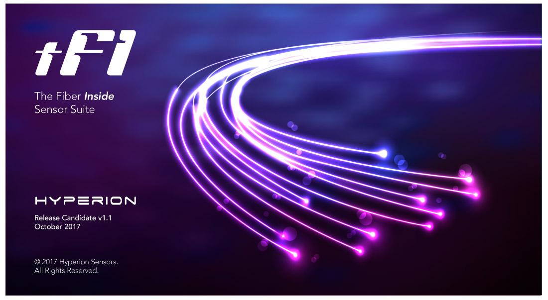Hyperion tFit Sensor Suite - Launch Screen