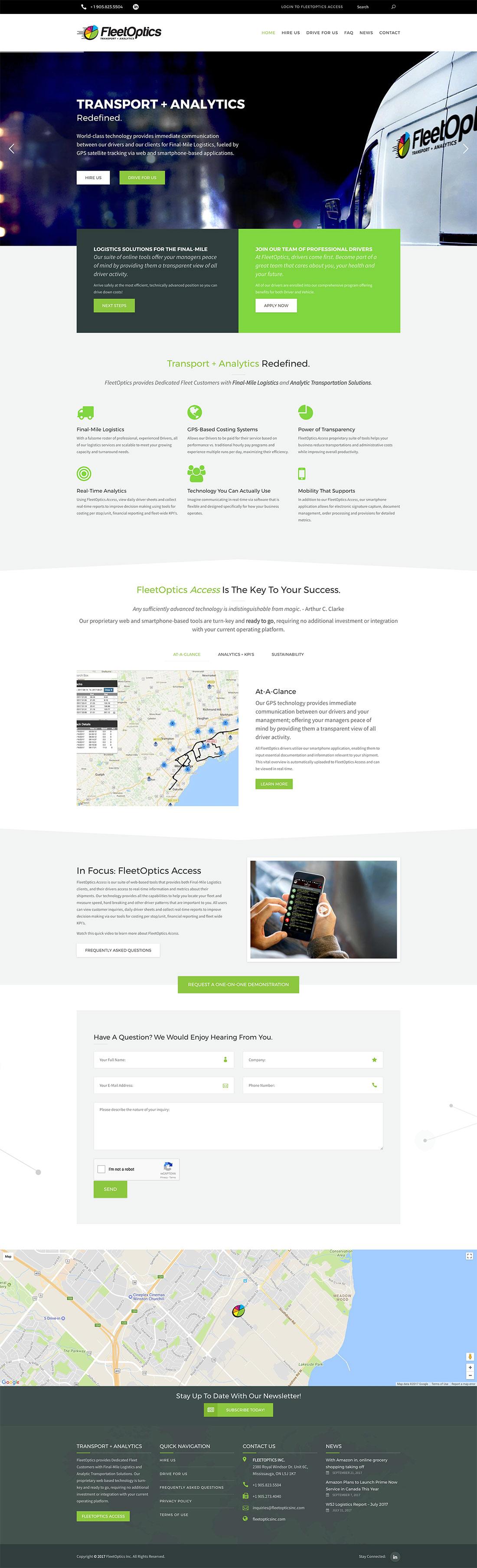 FleetOptics Inc. Web Site