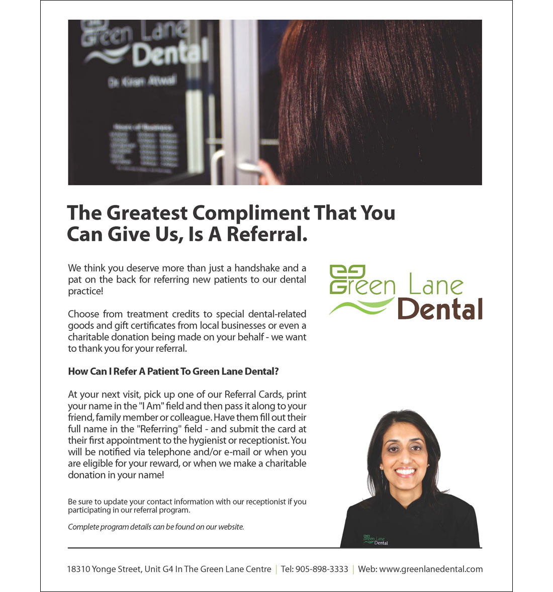 Green Lane Dental - Print Collateral