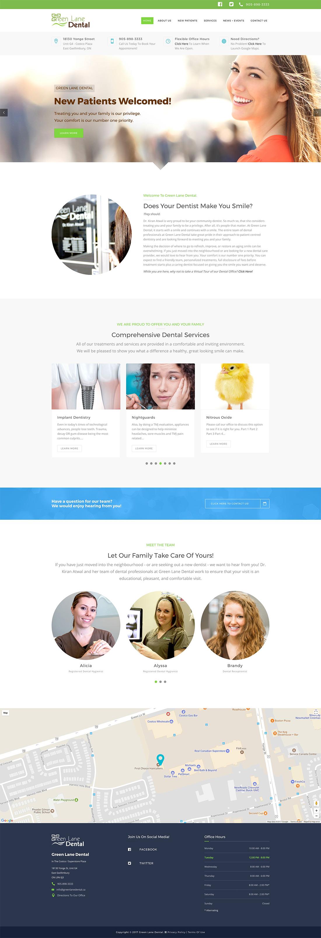 Green Lane Dental - Web Site